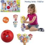 Bowling Monkey Strike Birilli Chicco | Massa Giocattoli
