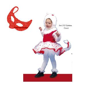 Costume Carnevale Gattina di Cuori De Rita | Massa Giocattoli