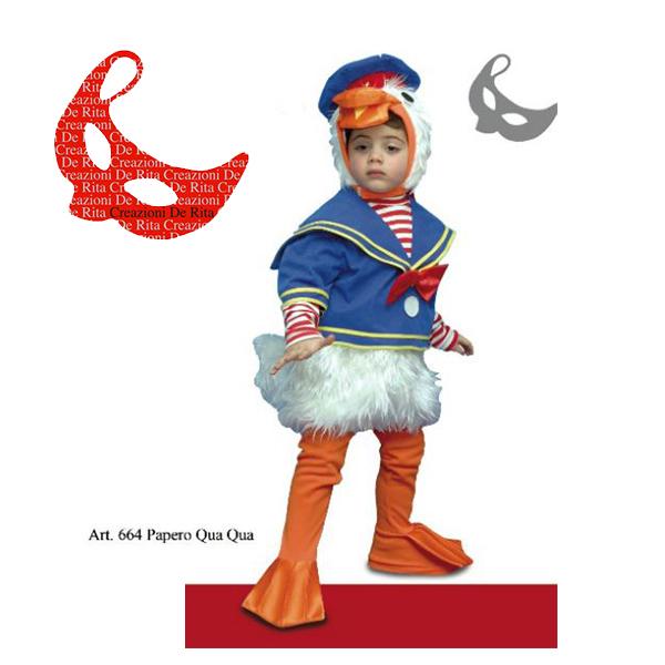 512fe9587f Costume Carnevale Paperino De Rita | Massa Giocattoli