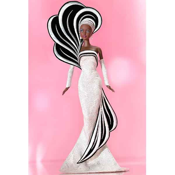 Barbie 45th anniversary Afroamericana by Bob Mackie