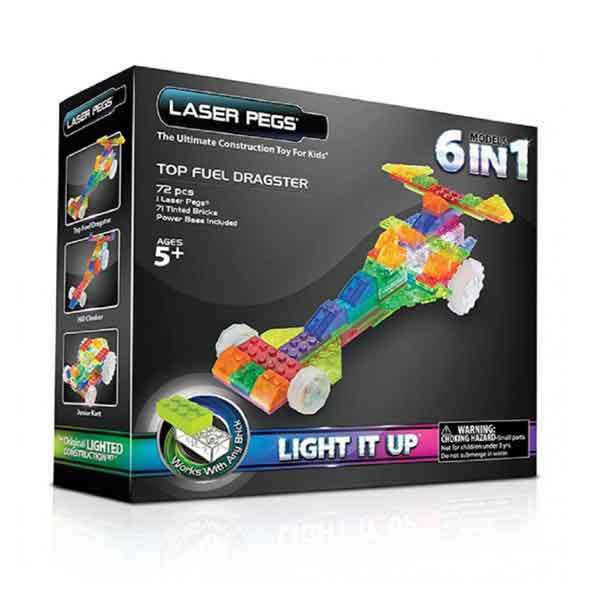 LASER PEGS Top Fuel Dragster 6 in 1