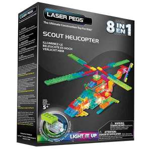LASER PEGS Scout Helicopter | Massa Giocattoli