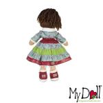 My Doll Gonna a Rouche Verde e Celeste | Massa Giocattoli
