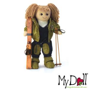 My Doll Bambola Bionda Sciatrice | Massa Giocattoli