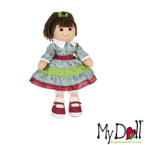 My Doll Gonna a Rouche Verde e Celeste | Massa Giocattoli