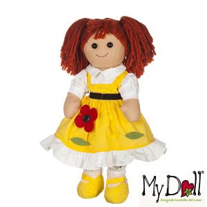 My Doll Vestito Scamiciato Giallo con Fiore | Massa Giocattoli