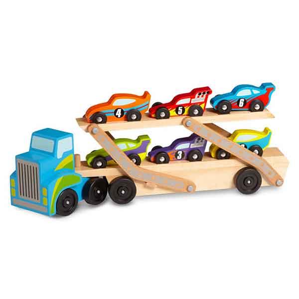 Camion Giocattolo Con Auto in Legno Melissa & Doug