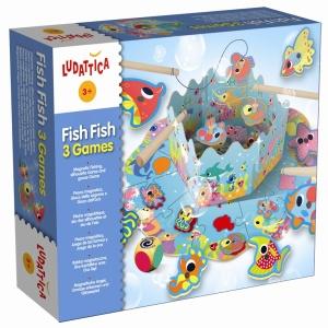 Ludattica Fish Fish 3 Games | Massa Giocattoli