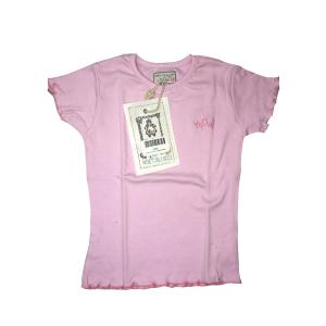 T-shirt Bordi Ricamati Rosa | Massa Giocattoli