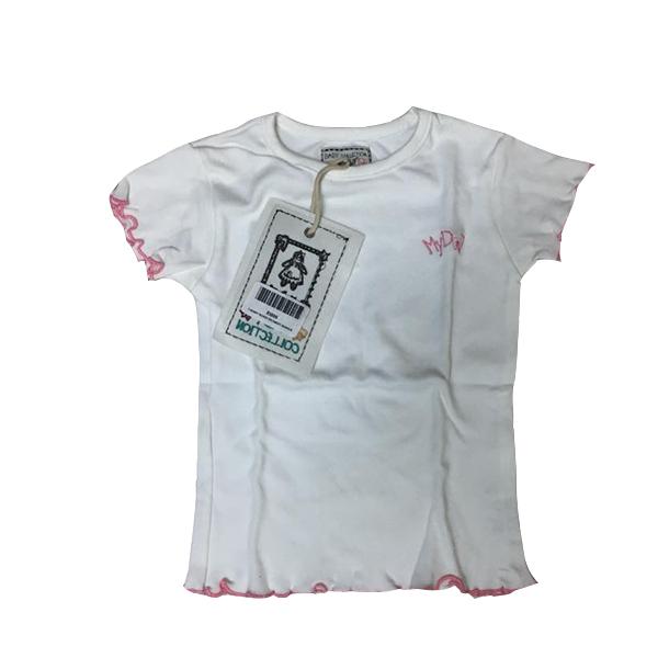 T-Shirt Bordi Ricamati Bianca