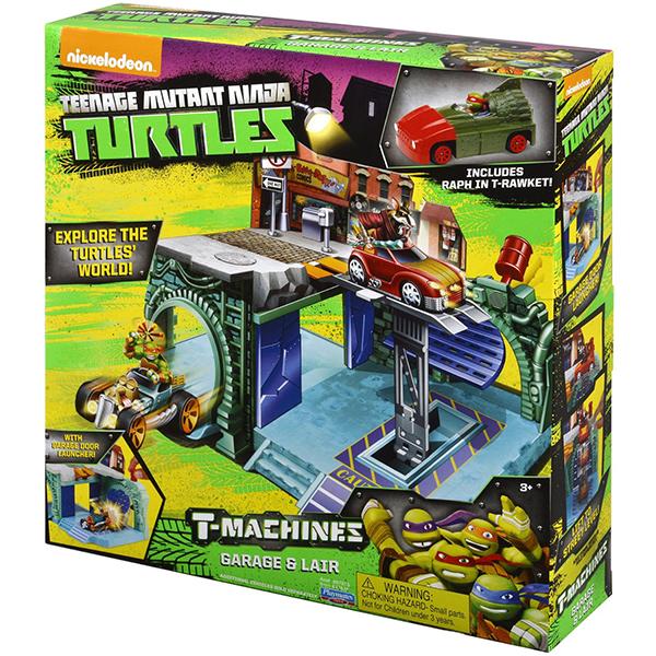 Tartarughe Ninja T-Machines Garage e Lair