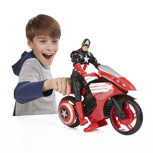 captain america moto titan hero series avengers massa giocattoli. Black Bedroom Furniture Sets. Home Design Ideas