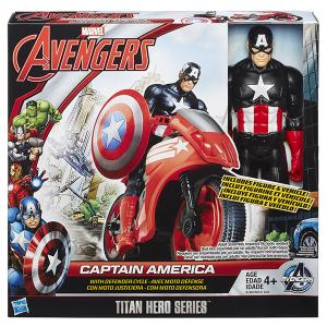 Captain America Moto Titan Hero Series Avengers | Massa Giocattoli