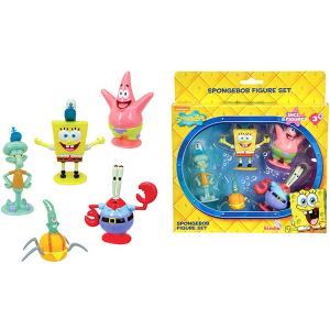 SpongeBob Figure Set 5 Personaggi | Massa Giocattoli