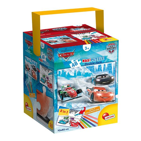Cars Maxi Puzzle Double Face 48 Pz