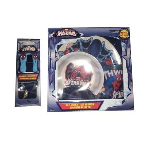 Disney Spiderman Set Tavola In Melamina | Massa Giocattoli