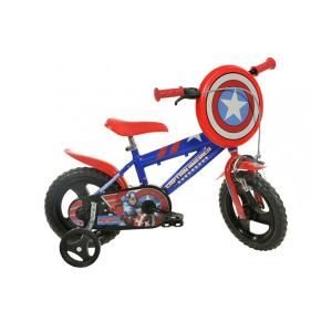 "Bicicletta Capitan America 12"" Dino Bikes | Massa Giocattoli"