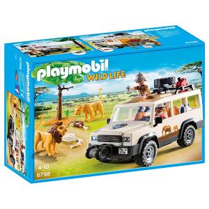 Playmobil 6798 Fuoristrada Nella Savana Con Leoni | Massa Giocattoli