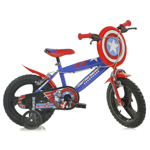 "Bicicletta Capitan America 16"" Dino Bikes | Massa Giocattoli"