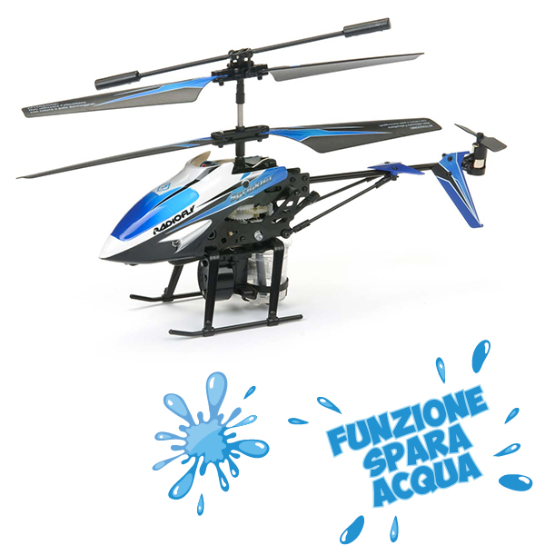 Elicottero Radiofly : Elicottero radiofly sprinkler spara acqua massa giocattoli