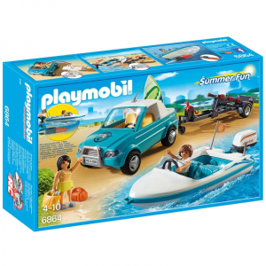 Playmobil 6864 Surfisti Con Pick Up e Motoscafo | Massa Giocattoli