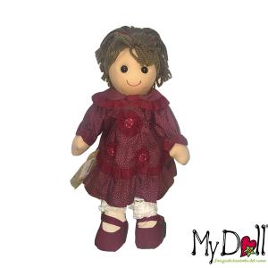 My Doll Bambola Abito Bordeaux Pois Stella | Massa Giocattoli
