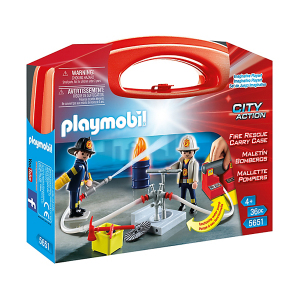 Playmobil 5651 Valigetta Grande Pompieri|Massa Giocattoli