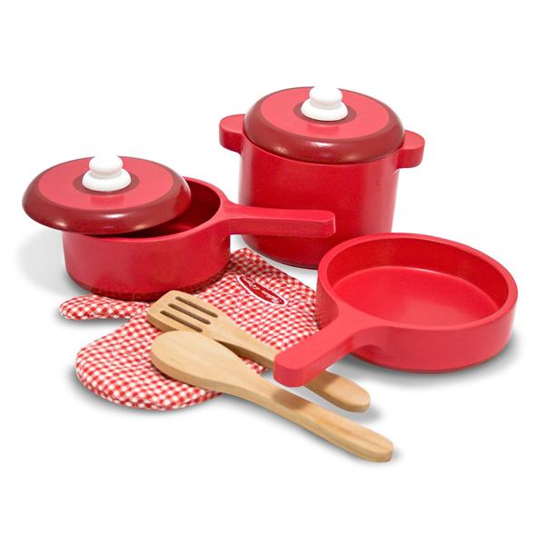 Set di accessori per cucina in legno Melissa & Doug