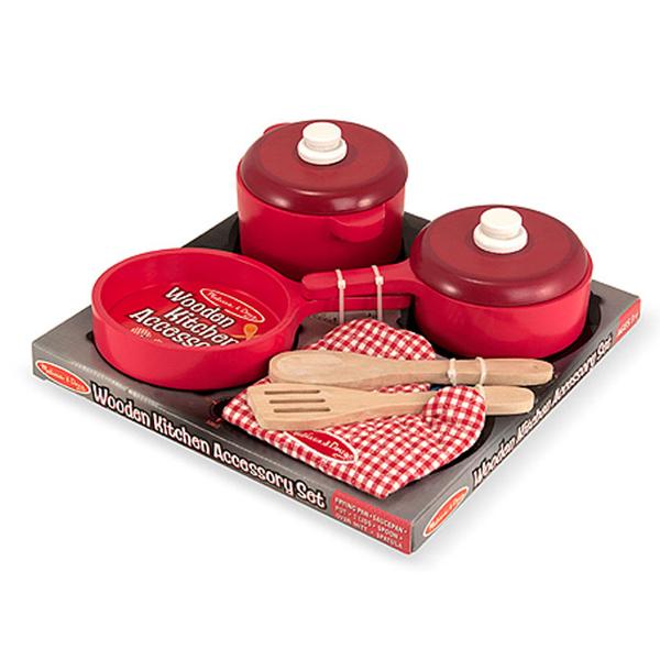 Set di accessori per cucina in legno melissa doug for Accessori per cucina in legno