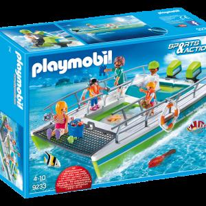 Playmobil 9233 Barca a fondo trasparente con motore subacqueo|Massa Giocattoli