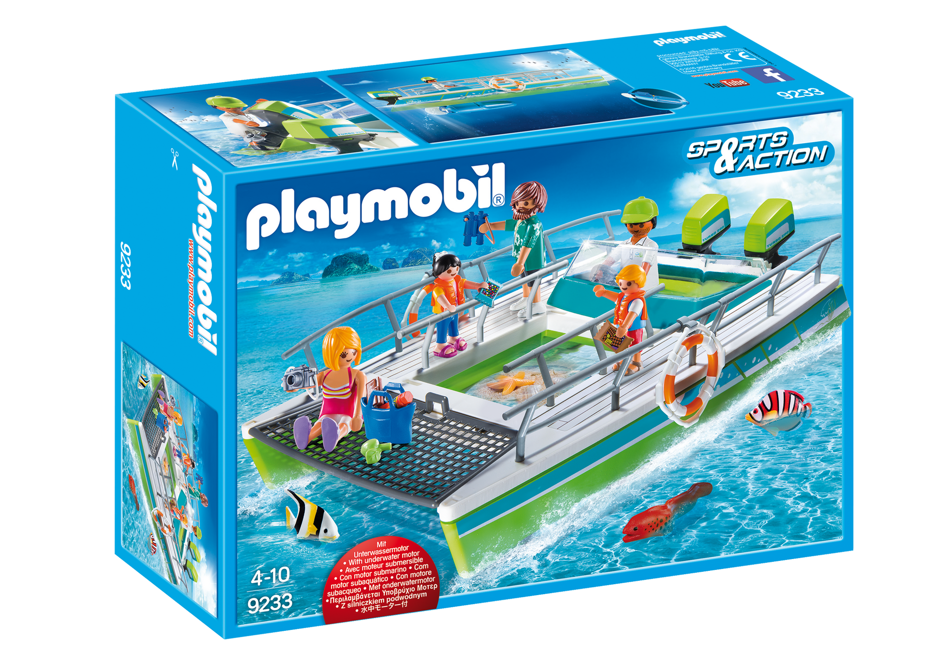 Playmobil 9233 Barca a fondo trasparente con motore subacqueo