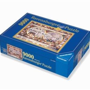 Ravensburger 1611, Mappamondo, Puzzle da 9000 pezzi | Massa Giocattoli