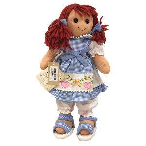 My Doll Bambola Vichy Celeste Con Ricamo | Massa Giocattoli