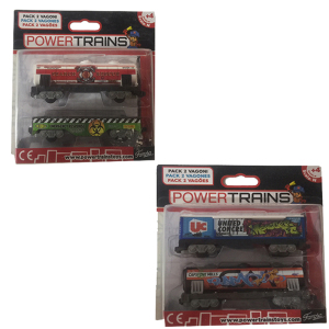 Power Trains Pack 2 Vagoni|Massa Giocattoli