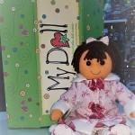 My Doll Bambola vestito e cappotto fiocchi rosa antico e pelo